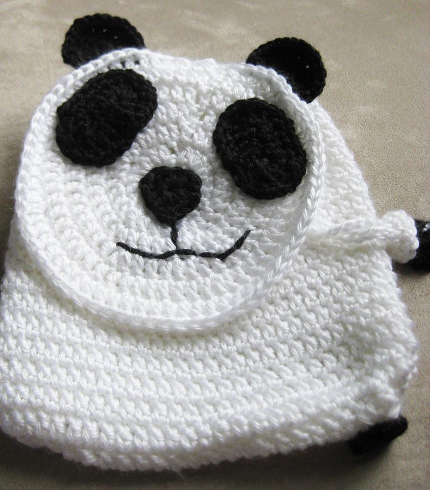 Panda Backpack | Kickin Crochet