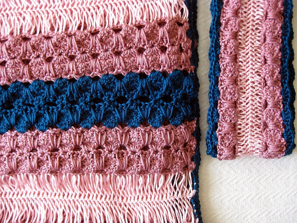 Allison hairpin lace baby blanket and scarf set kickin crochet