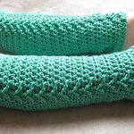 Girl's legs in Green Crochet Legwarmers