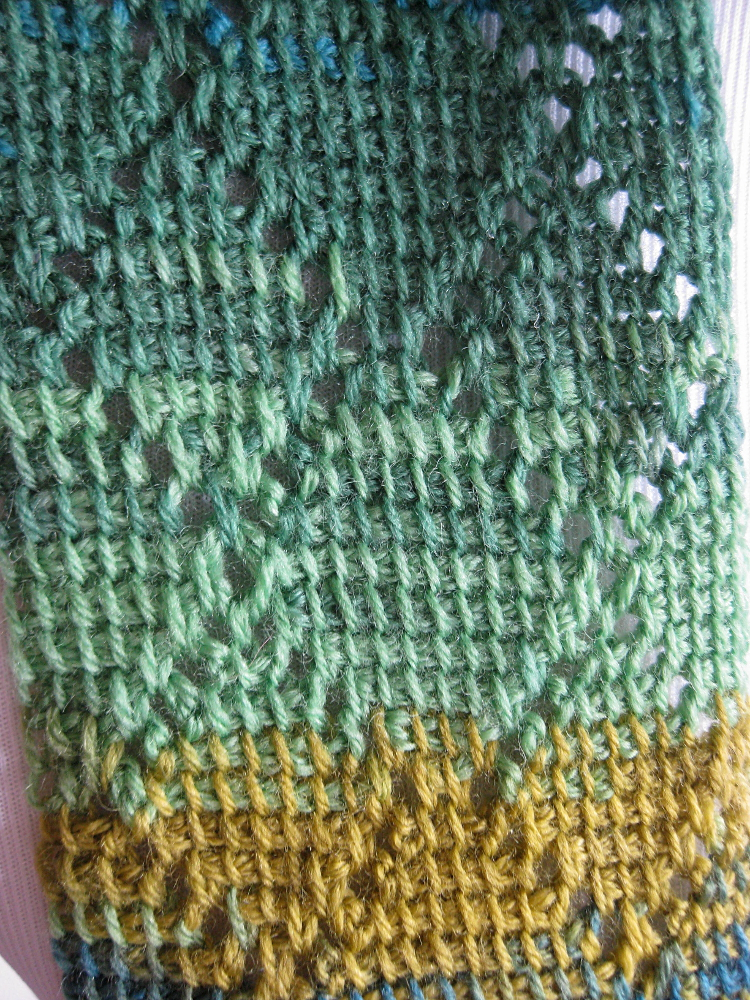 Diamond Scarf Tunisian Crochet Pattern Kickin Crochet