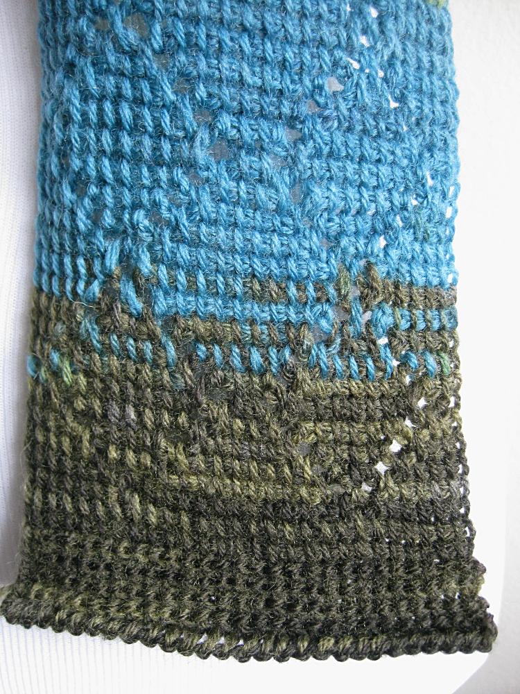 Diamond Scarf Tunisian Crochet Kickin Crochet