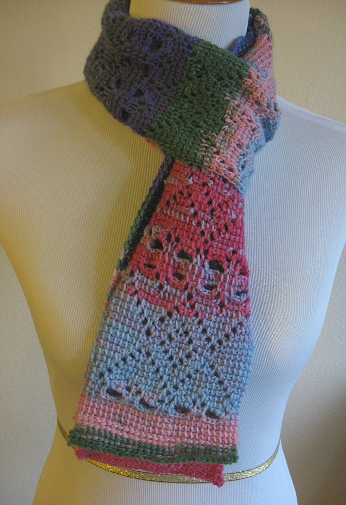 Heart Scarf Tunisian Crochet Kickin Crochet